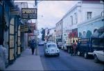 View of retail stores on Main Street in Charlotte Amalie, Saint Thomas, Virgin Islands