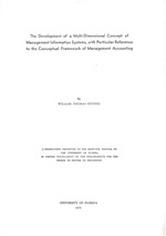 The development of a multi-dimensional concept of management information systems, with particular reference to the conceptual frameword of management accounting