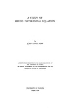 A study of Heun's differential equation