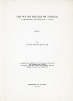 The water beetles of Florida : a taxonomic and ecological study