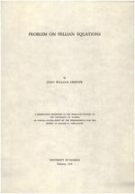 Problem on Pellian equations