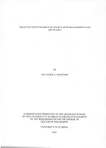 Essays in the economics of solid waste management and recycling