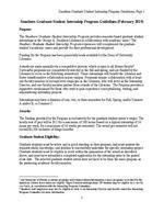 Program Information (2019) Smathers Graduate Student Internship