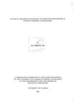 Maximum likelihood estimation of detector efficiencies in positron emission tomography