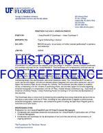 LibraryPress@UF Coordinator Position Description