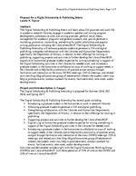 Digital Scholarship & Publishing Internship Proposal