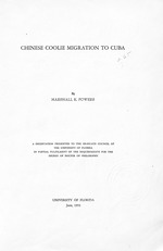 Chinese Coolie Migration To Cuba