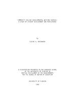 Community college developmental writing courses
