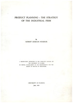 Product planning - The strategy of the industrial firm