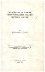 The political speaking of Henry Washington Hilliard