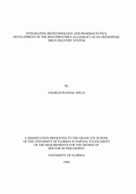 Integrating biotechnology and pharmaceutics