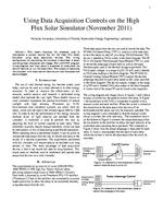 Using Data Acquisition Controls on the High Flux Solar Simulator