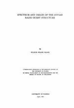 Spectrum and origin of the Jovian radio burst structure