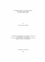 A validation study of a learning module on selected library skills for the seventh grader