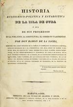 Historia economico-politica y estadistica de la isla de Cuba
