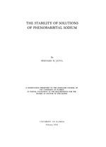 The stability of solutions of phenobarbital sodium