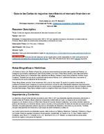 Guia de las Cartas de negocios describiendo el mercado financiero en Cuba