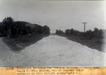 Route 2- Pte. Saline, Vue du nouveau trace montrant le  1er . remblai presqu'acheve Spt. 1929
