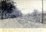 Miragoane- St.Michel. Alignement actuel de la route au sud de Carrefour  Desruisseaux que change le nouveau treace a l'Est . Sta. 868. Avril 1930