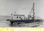 Sonnette flottante halee sur le rivage  des Gonaives , pour etre reparee . Nov. 1929
