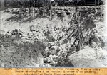 Route 38.- Dega a un remblai a cause d'un ponceau trop court.- Route Trouin - Jacmel. Oct. 1929