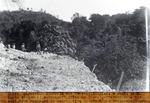 Route petion ville- Kenscoff (tete de l'eau ) - Travaux dans une sect. tres rocheuse et courbe  vive  bordee d'une ravine - km.0.900. Janv 1930
