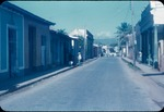 Rural paved road in Trinidad