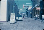 Busy cobblestone street in Trinidad