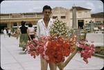 Street flower vender