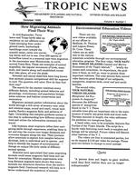 Tropic news. Volume 9. Issue 1.