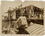 American colonists landing in Cuba shortly after the Spanish War