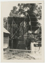 View of a water wheel in Jamaica