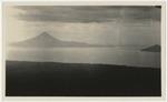 View of Lake Managua and volcanoes Momotombo and Momotombito (at far right)