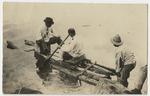 Dr. D. M. Molloy (at left) and Estus H. Magoon in Lake Masaya