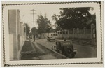View of East Street from gate of Greenville Hotel in Kingston, Jamaica