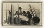 View of ventilators of ship S.S. Iriona in Belize