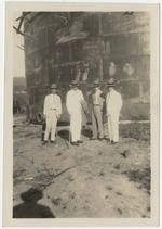 Estus H. Magoon (at right) during an inspection in Kingston, Jamaica