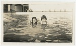 Katherine (at left) and Dorothy Magoon at Bournemouth Pool, Jamaica