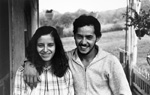 Manuel and Hazel Molina. He is a native of Puerto Rico and a permanent worker in a mushroom farm. She is a self-described Hillbilly. Kennett Square, PA 1981