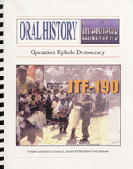 Operation Uphold Democracy: Oral History Interviews