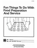 Fun things to do with food preparation and service