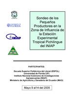 Sondeo de los Pequenos Productores en la Zona de Influencia de la Estacion Experimental Tropical Pichilingue del INIAP