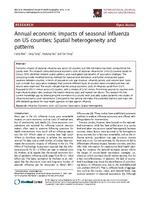 Annual economic impacts of seasonal influenza on US counties: Spatial heterogeneity and patterns
