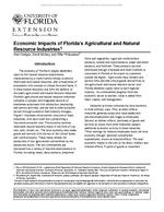 Economic Impacts of Florida's Agricultural and Natural Resource Industries