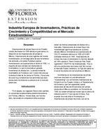 Industria Europea de Invernaderos, Practicas de Crecimiento y Competitividad en el Mercado Estadounidense