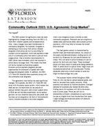 Commodity Outlook 2003: U.S. Agronomic Crop Market