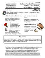 La Sante Nan Lavi Granmoun: Konsey Sou Fason Pou-w Pran Vitamin