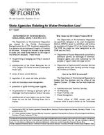 State Agencies Relating To Water Protection Law
