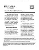 Fire in the Wildland-Urban Interface:  Considering Fire in Florida's Ecosystems