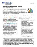 Mensaje sobre MiPirámide: Variedad